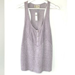 Anthropologie Lucie Ribbed Racerback Tank size L
